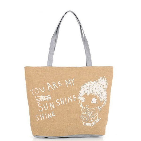 good quality 2019 New Women Handbags Print Cartoon Canvas Daily Shopping Soft Sling Foldable Shoulder Bag Tote Purse Dropshipping