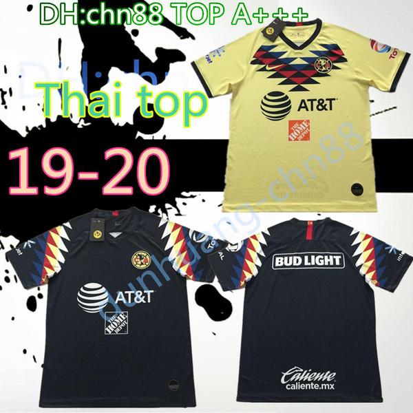 R.SAMBUEZA P.AGUILAR 19 20 casa C.DOMINGUEZ América del amarillo camiseta de fútbol 2019 2020 México distancia club de tercera camiseta de fútbol verde Mujeres top
