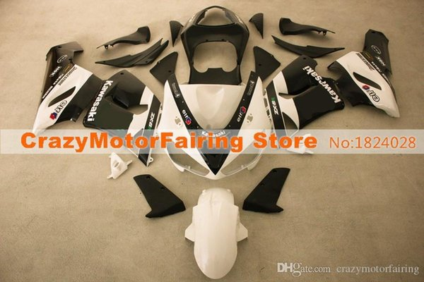 3 Free gifts New Fairing kits for 05 06 ZX 6R 636 2005 2006 Ninja ZX6R ZX636 ABS fairings Body kits hot buy black white elf
