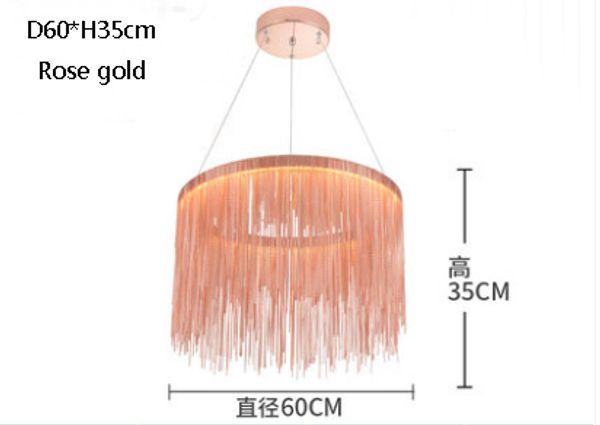 diámetro 60cm oro rosa