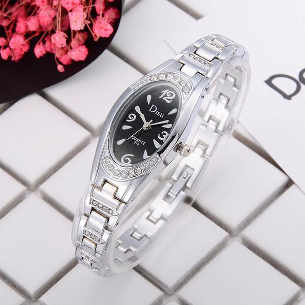 Ladies watch Rose Gold Plated Women's Elegant Rhinestone Bracelet Quartz Watch Fashion Ladies Dress Watches montre femme 2019 W