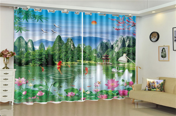 2019 3D Curtain Living Room Beautiful Lakes Landscapes Customize Your  Favorite Beautiful Blackout Curtains For You From Yunlin188, $194.98   ...