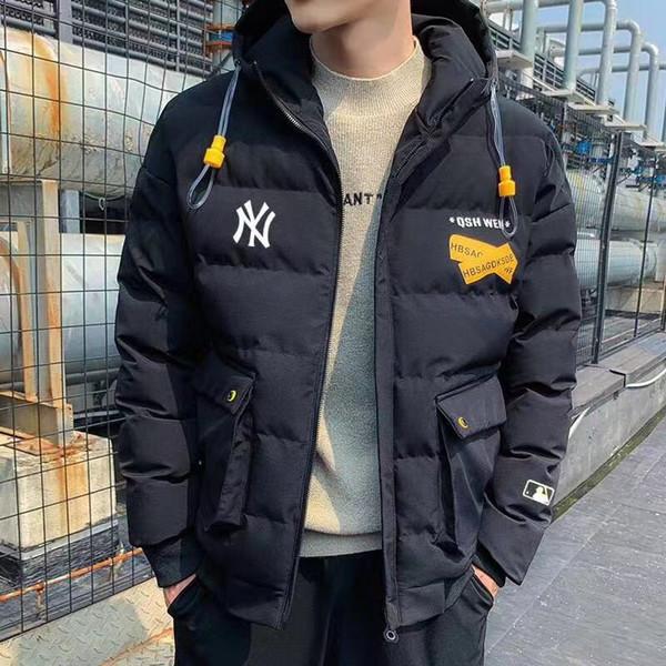 Hiver 2019 nouvelles casual capuche hommes veste coréenne veste mince duvet noir