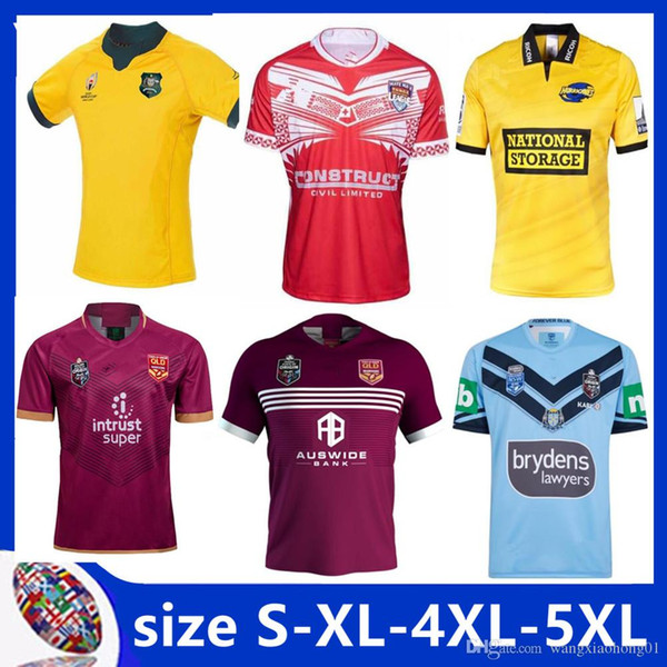 TONGA 2019/2020 REPLICA EM CASA LAGOA JERSEY NSW BLUES Austrália Wallabies RWC 2019 Início Match Day Rugby QLD MAROONS Camisa tamanho S-5XL