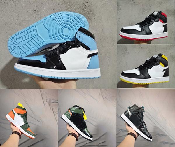 Rookie the Year Patent 1 Chaussures de basket 1S OG MID Chaussures de sport en cristal de Chicago Mandarin canard Baskets Baskets chaussures de designer EUR36-46