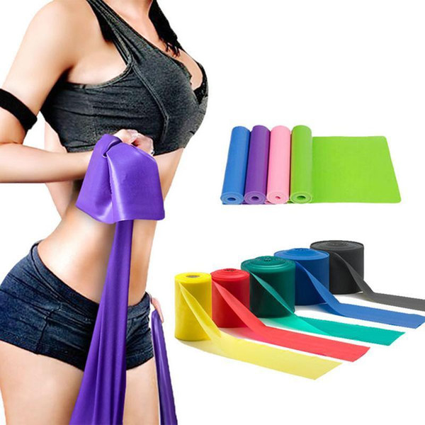 top popular US STOCK, Natural Emulsion Sports Resistance Band Yoga Fitness Rally Latex Elastic Resistance Band Training Belt FY7025 2021