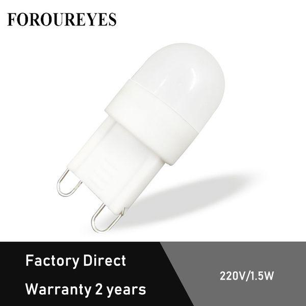 Directo de fábrica mini g9 bombilla led 220V 1.5W SMD3030 Lámpara de cerámica para la iluminación de la lámpara Las luces del techo reemplazan la luz halógena