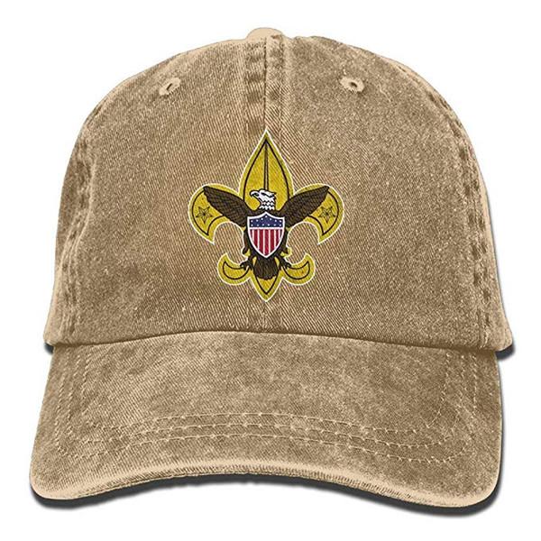 2019 New Custom Baseball Caps Print Hat High Mens Cotton Washed Twill Baseball Cap Boy Scouts Retro Hat