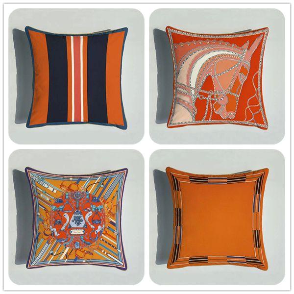 Cushion Cover Super Soft Velvet Environmental Protection Double-sided Printing Sofa Pillow Case European Bedroom Bedside Pillowcase