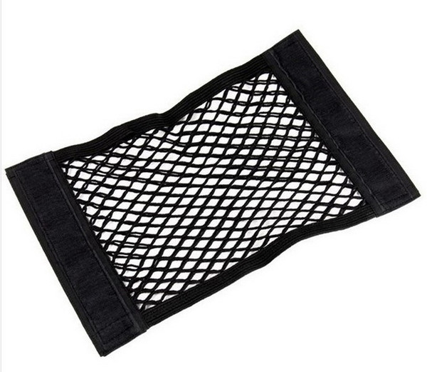DHL 100pcs Seat Elastic String Net Mesh Storage Bag Pocket Organizer Seat Back Bag 40*25cm