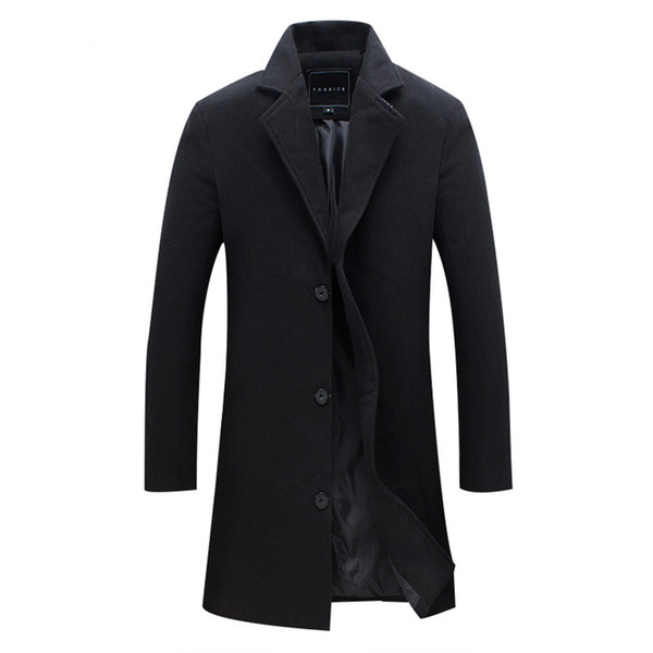 New Men Wool Blends Suit Design Wool Coat Men Casual Trench Coat Design Slim Fit Office Suit Jackets Drop Shipping
