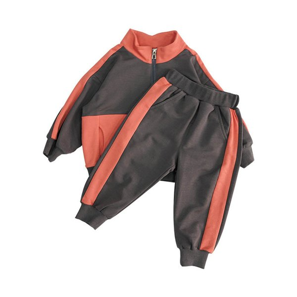 Novo 2019 Outono inverno crianças treino meninas casuais ternos crianças roupas de grife meninas suor terno casaco + calças 2 pcs crianças roupas de varejo A7944