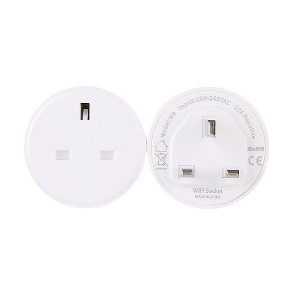 Wifi Smart Socket Mini Intelligent Home Mobile Phone Remote App Timing Remote Control for United Kingdom Plugs