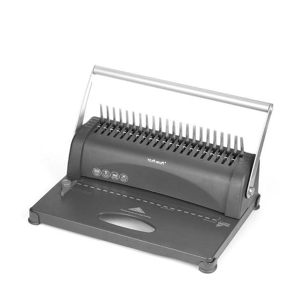 top popular 21-Hole 250 Sheets Paper Comb Punch Binder Machine Binding Report Scrapbook 2021