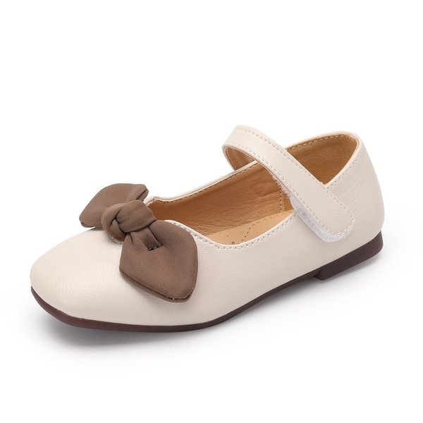 2019 New Spring Summer Fashion Princess Girls leather Shoes Bow Soft bottom Ball sandals Children Flat Shoes casual Kids Shoes