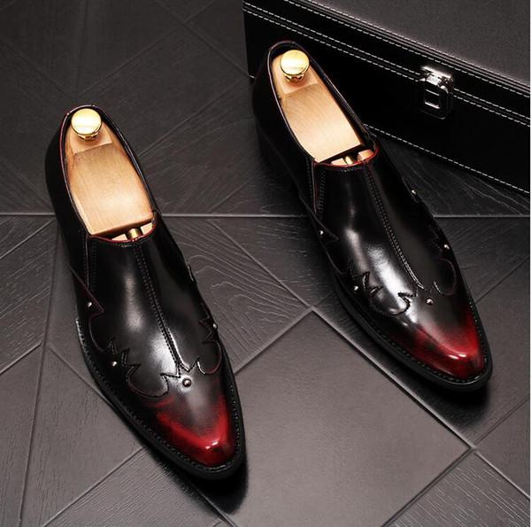 2019 New Casual Shoes deslizamento sobre Lightweight Man suave Flock Plano sapatilha preta de forma masculino Tamanho 38-43