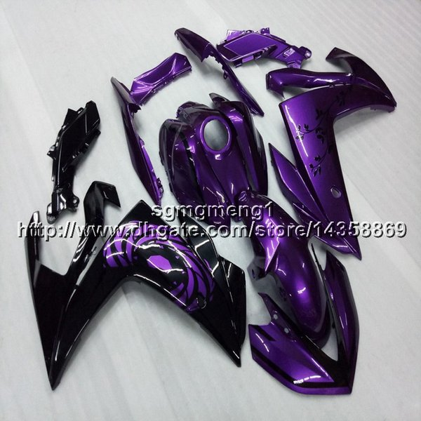 23colors+Screws Injection mold purple motorcycle cowl for Yamaha YZF-R25 2015 2016 YZFR3 15-16 Bodywork Set ABS motorcycle panels