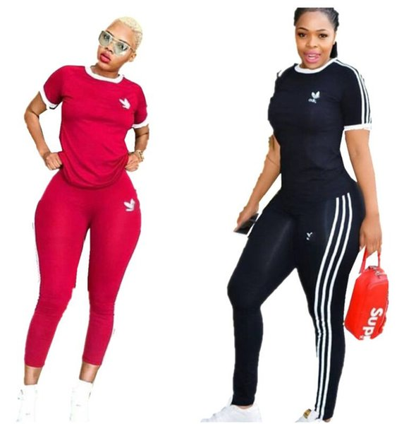 Womens AD Letter Printed Designer Summer Shorts Sleeve+Pants 2piece Outfit Brand Tracksuit Round Neck Tshirt Pants Casual SportSuit A52704