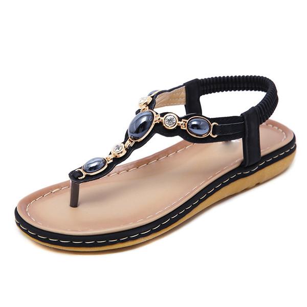 Venda quente-Tangnest Novo Verão Sandálias De Cristal Mulheres Gladiador Slip On Plataforma Flip Flops Feminino Moda Casual Trepadeiras Sapatos XWZ5359