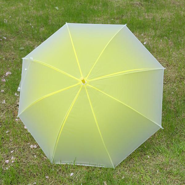 transparent scrub long handle umbrella dance performance transparent gradient umbrellas beach wedding colorful umbrella r4355