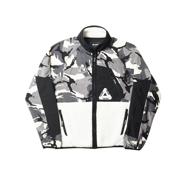 PALACES 18FW street hip hop fleece fleece camouflage color matching thick warm jacket men's and women's jacket