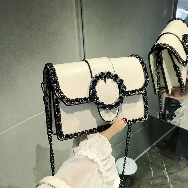 Nice2019 Small Kay Bag Donna Tide Chain Single Shoulder Concise All-match Cable Satchel Personalità
