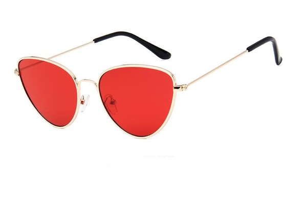 Neue Hip-Hop-, europäische und amerikanische Mode, Sonnenbrillen mit Cat-Eye-Metal-Accessoires, Ocean-Gläser, Brillen, RETRO SUNGLASSE für Herren und Damen