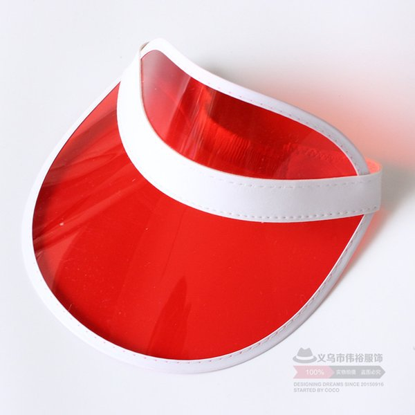Plastic sun visor hat out New Fashion summer hats High quality UV hat in good price