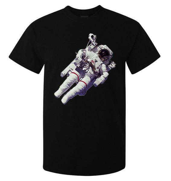 Astronaut In A Space Suit NASA Spacewalk men's (woman's available) t shirt black Harajuku Summer 2018 Tshirt Jersey Print T-shirt