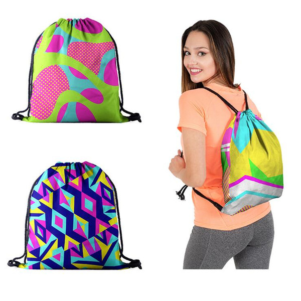 Waterproof Drawstring Backpack Shoes Bags Sport Travel Drawstring Backpack Bag For Children Birthday Party Favors Bag Free Shipping