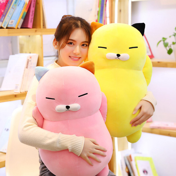 60cm Cute Plush Cat Pillow Toys Stuffed Animals Lovely Cat Plush Toys Appease Doll Birthday Valentine Gifts for Kids Girls