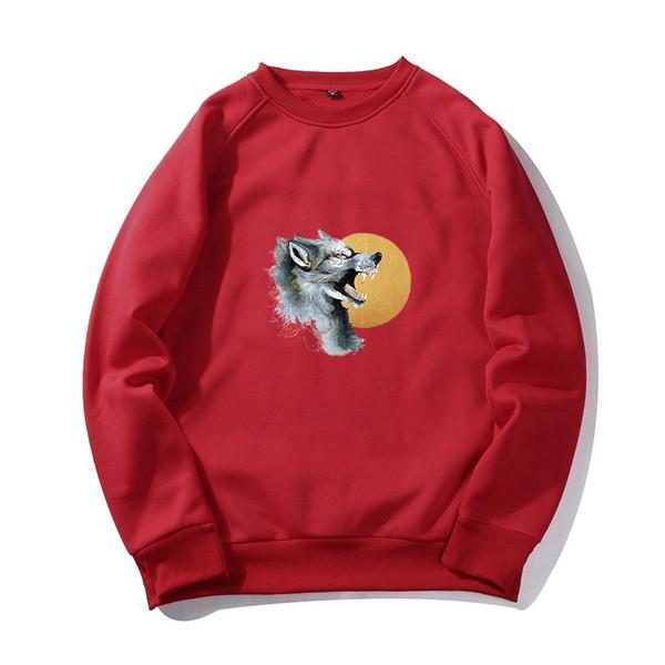 Game of Thrones Hoodie Men 2018 Winter Autumn Fleece Warm Hooded Sweatshirt Wolf Slim Fit Lightweight Hoodies Mens For Gamers Wolf