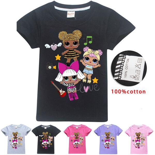 Kid Surprise Girl T Shirt Summer Cotton Tees Round Neck Short-Sleeved T-Shirt Boys Girls Children tshirts Outwear Top Clothing A32008