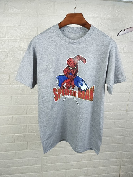 2019 New men's and women's T-shirts can be used for parent-child wear. Couples wear cotton fabrics. Spider-Man prints.