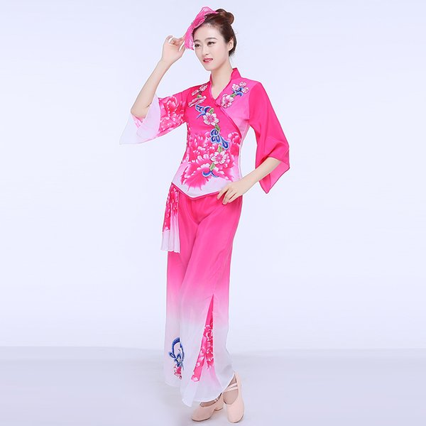 Festival Outfit Ladies Yangko Clothing 2019 New Hot Fan Dance Performance Clothing Square Dance National Stage Costumes