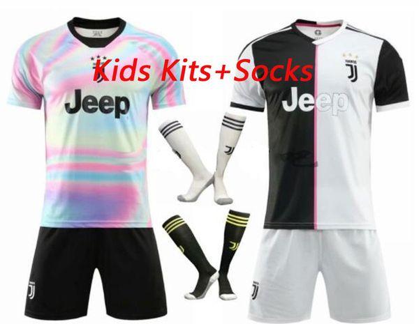 101c1290e New #7 RONALDO JUVENTUS home third Kit Kids Soccer Jersey 18 19 DYBALA  JUVENTUS EA