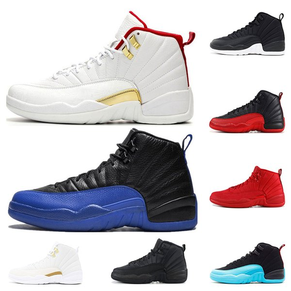 12 12s Nouveau 12 12 hommes chaussures de basket-ball Sneakers noir blanc PLAYOFF THE MASTER Gym rouge gamma bleu 12s chaussures de sport pour hommes 7-13
