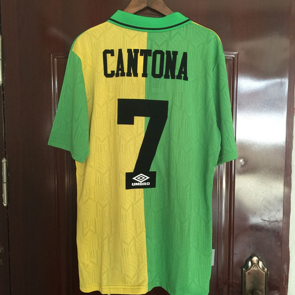 differently 55fd6 5e3f5 2019 1993 1994 Manchester United Retro Soccer Jersey 1993 1994 Cantona 7  UTD Soccer Jersey Classic Football Shirt Camiseta Maillot De Foot From ...
