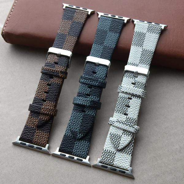 Роскошь Цветной клетчатый ремешок для часов Watcb для Apple Watch 1 2 3 4 Высокое качество