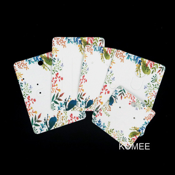 best selling Factory Wholesale In Stock DIY Handmade Colorful Leaves Jewelry Card Stud Earring Necklace Hair Clip 5 Sizes Display Cards