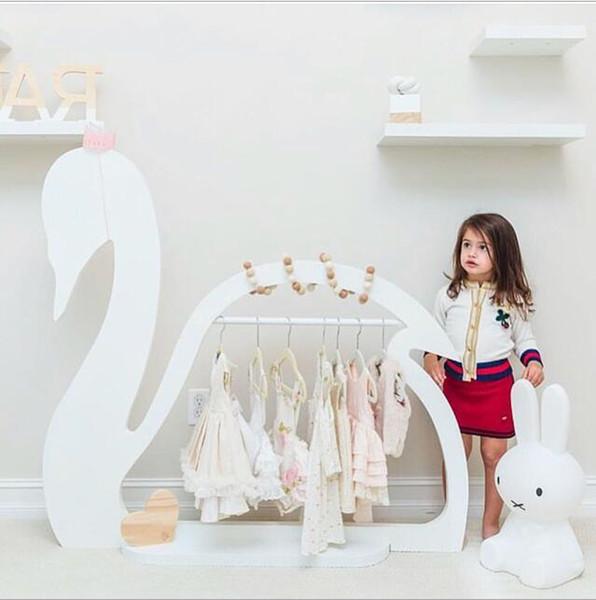 Landing coat hanger Children's room decoration Babies organize hangers Swan-shaped hangers for children's room decoration