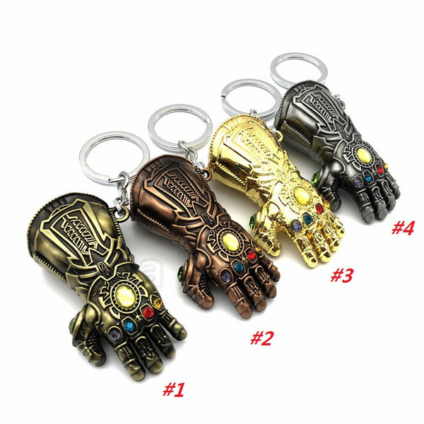 Wholesale The Terminator Metal Skull  Key Chain Ring Pendant Supporters Random