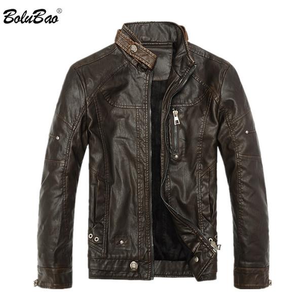 BOLUBAO Marka Kış Ceket 2019 erkek Moda Mont Erkek Deri Ceketler Su Geçirmez Motosiklet Tarzı Erkek İş Mont PU