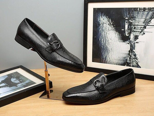 Classic Leather Business Shoes 2219 Men Dress Shoes Moccasins Loafers Lace Ups Monk Straps Boots Drivers Real Leather Sneakers Shoes