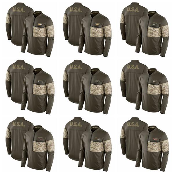 hot sale online c7c2c 803b1 2019 Men Hoodie Salute To Service Sideline Hybrid Half Zip Pullover Jacket  Olive Vikings Patriots Saints Jets Raiders From Bangdy, $41.04   DHgate.Com
