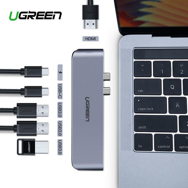 Ugreen USB C HUB Dual Tipo C para USB 3.0 Splitter Adaptador HDMI para MacBook Pro 2016/2017/2018 Thunderbolt 3 USB-C Porto HUB