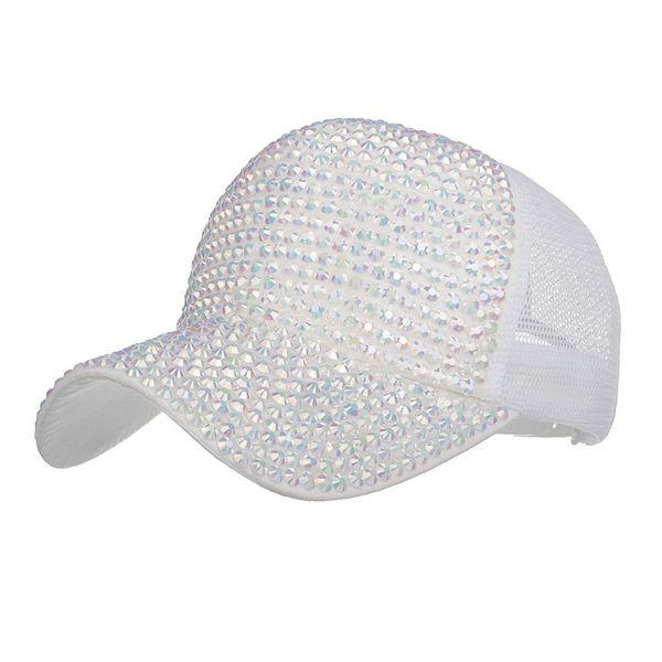 Women Rhinestone Hats Female Snapback Baseball Cap Bling Diamond Hat Apparel Accessories czapka z daszkiem