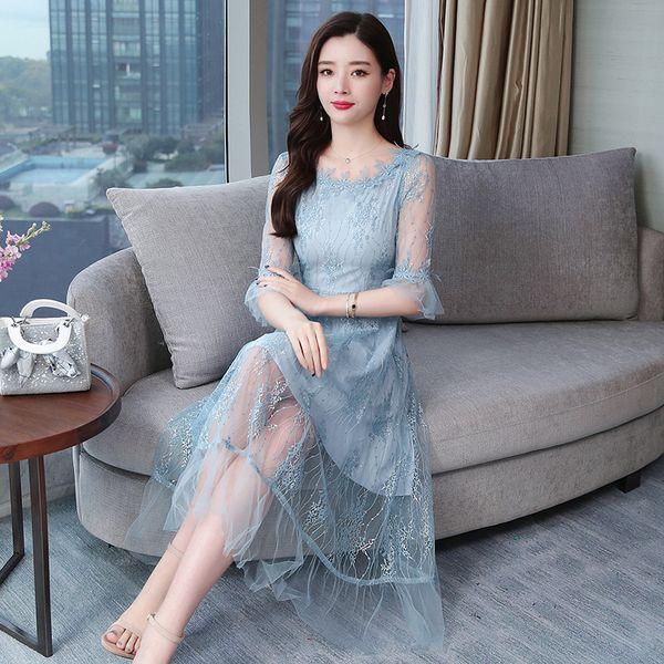 2019 лето с коротким рукавом элегантный журавль золотой атлас жаккард улучшенная девушка Cheongsam сексуальный принт Pankou Cheongsam