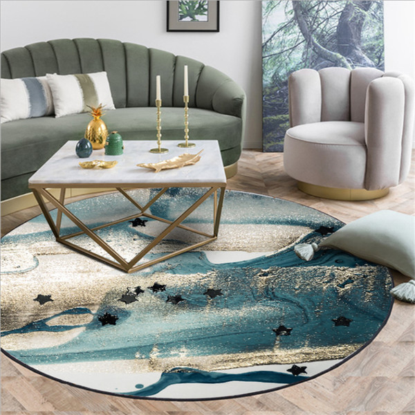 AOVOLL Art Watercolor Blue Green Abstract Metal Wind Round Carpet Carpets  For Living Room Bedroom Rugs Carpet Kids Room Shaw Rug Carpet Showrooms  From ...