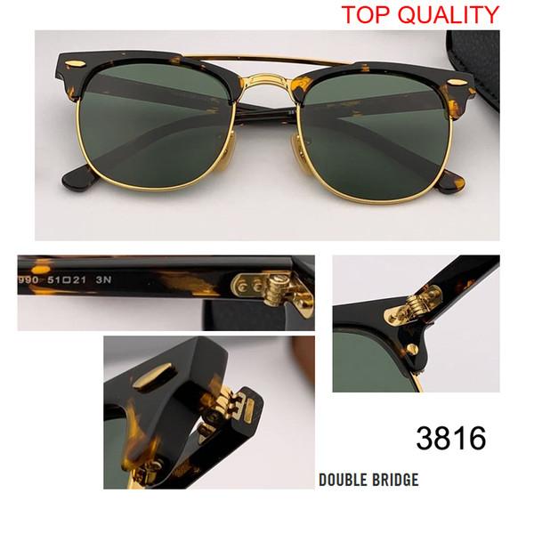 New Top-Qualität Club Sonnenbrille Mens Womens Markendesigner UV400 Master Brille Classic Sonnenbrille Driving Semi Rimless Rd3816 Quadrat Gafas